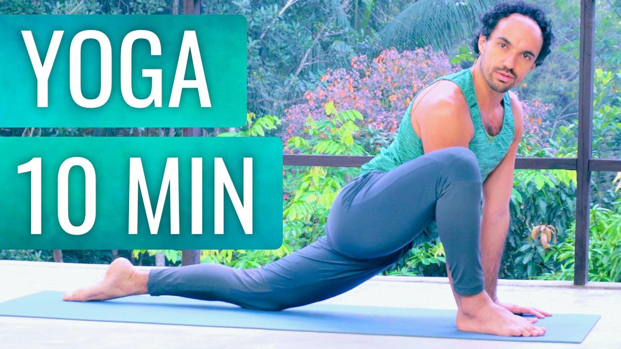Yoga em 10 minutos para todo corpo com equilíbrio e meditação