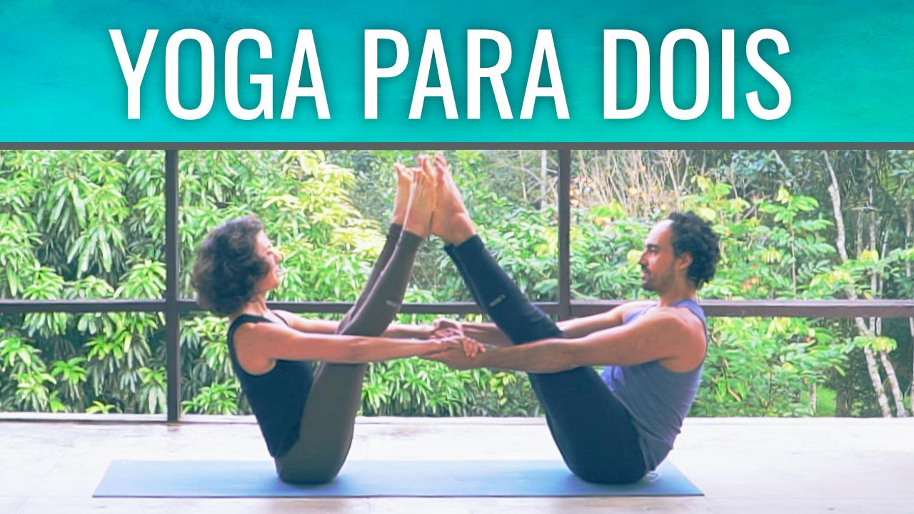 Yoga em dois, para casais, parceiros e amigos.
